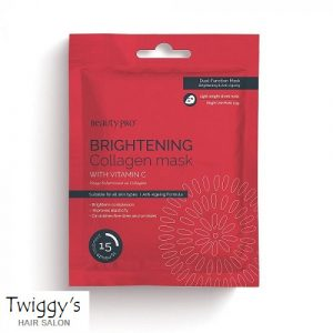 BeautyPro Brightening Collagen Sheet Mask with Vitamin C