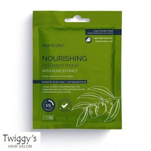 BeautyPro Nourishing Collagen Sheet Mask with Olive extract